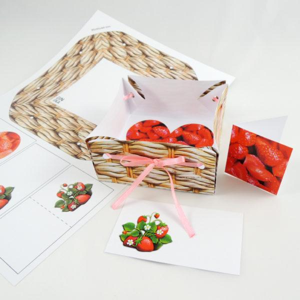 soubor v pdf k vytištění na barevné tiskárně, vystřihněte a poskládejte krabičku na dárek