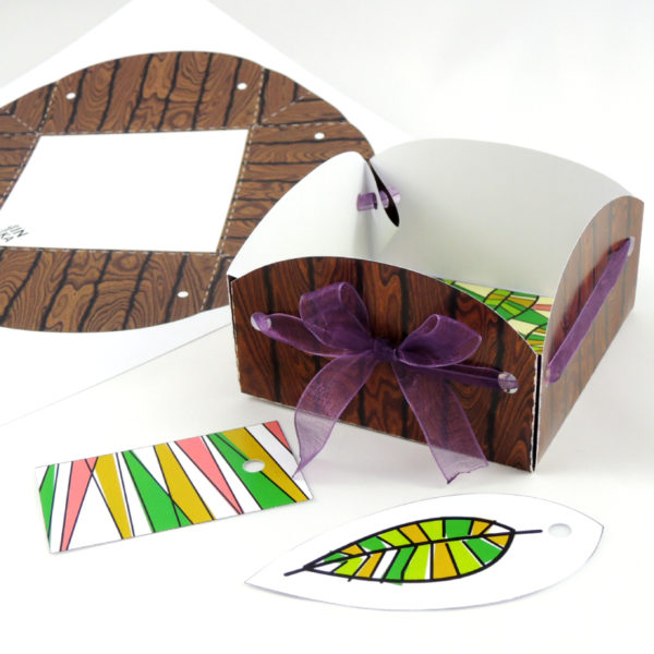 Dárková papírová krabička je to soubor ke stažení ve formátu pdf