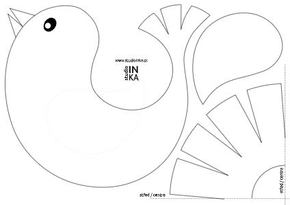 pdf soubor vektorové grafiky k vytištění a dekoraci oken s motivem ptáčka