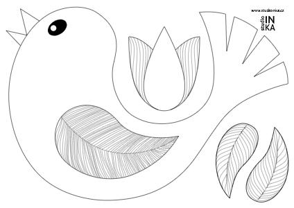 vektorová grafika ptáčka slouží jako okenní dekorace ve školní třídě