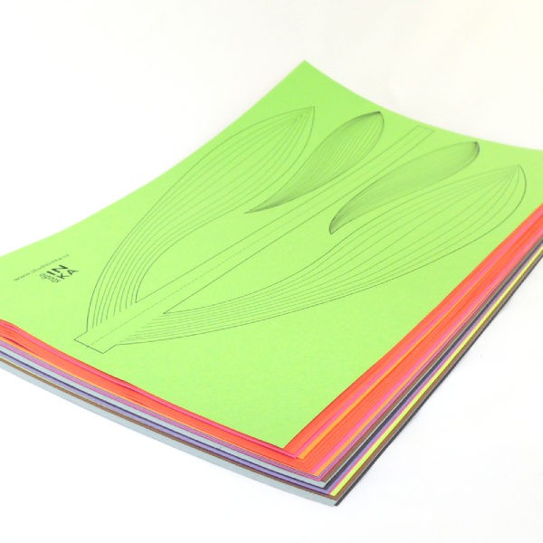 kreativní soubor pdf ke stažení stonek tulipánu výzdoba okna