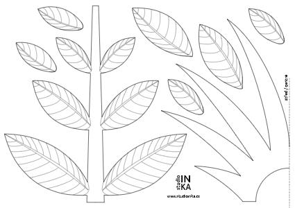 materiály ke stažení dekorace oken k vytištění