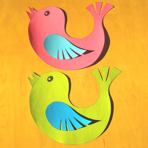 soubor k vytištění ptáčka dekorace oken školní třídy