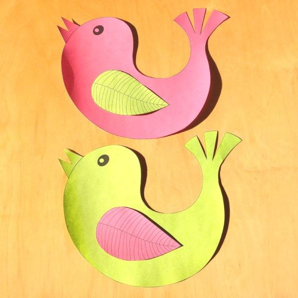dekorace na okna s motivem ptáčků