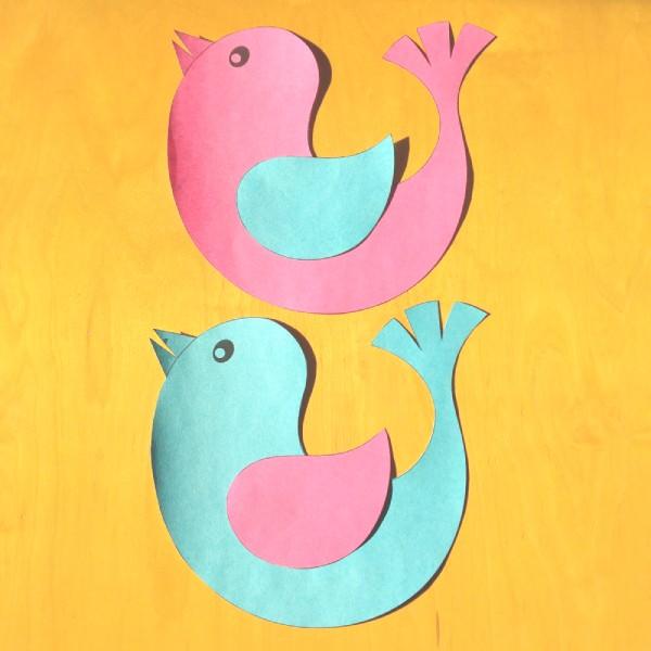dekorace ptáčka ke stažení