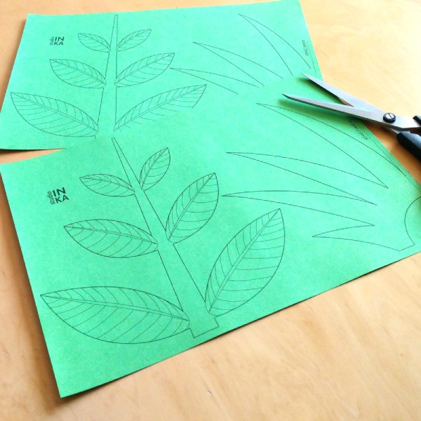 soubor k vytištění dekorace květin