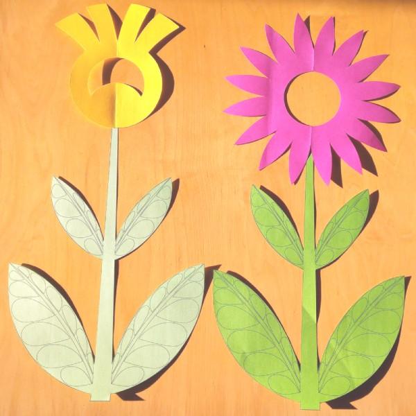 soubor ke stažení dekorace na okna stonek květu