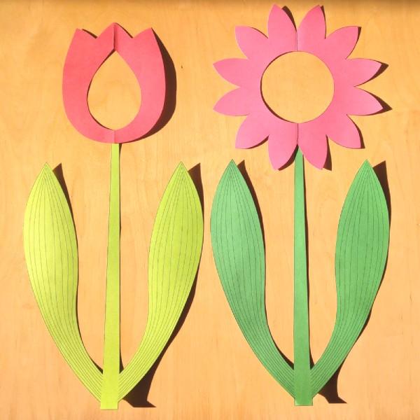 pdf soubor k vytištění dekorace okna stonek tulipánu
