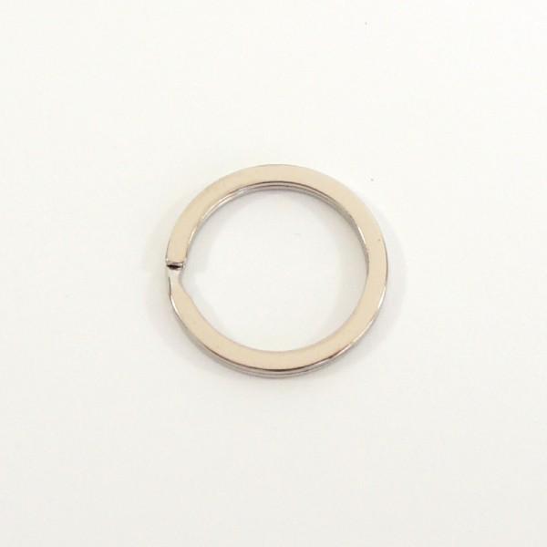 stříbrní klíčový kroužek plochý