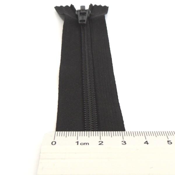 černý nedělitelný zip 14 cm