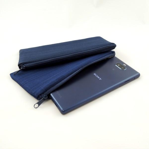 jednoduché softshellové pouzdro na telefon se zapínáním na zip v různých barevných variantách