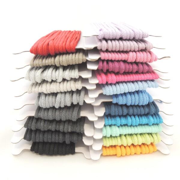 Bavlněné šňůry, průměr 5 mm, všechny barvy