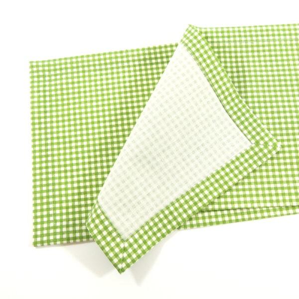 zelený károvaný kuchyňský ubrus Vilma
