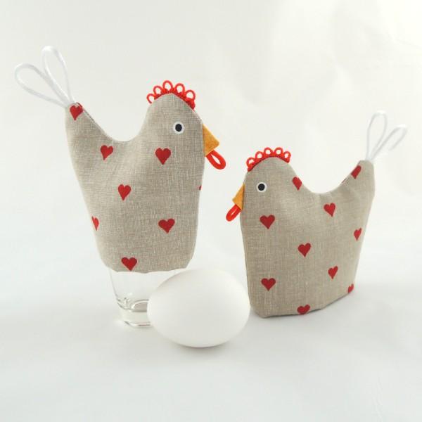 čepička, punčoška, obal na uvařené vajíčko vytvořené ve stejném stylu jako kuchyňská chňapka slepička